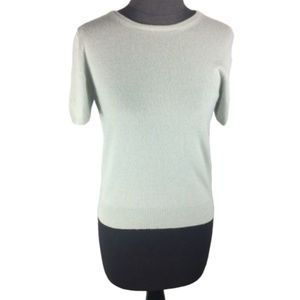 Neiman Marcus 100% Cashmere Sweater Short Sleeve S